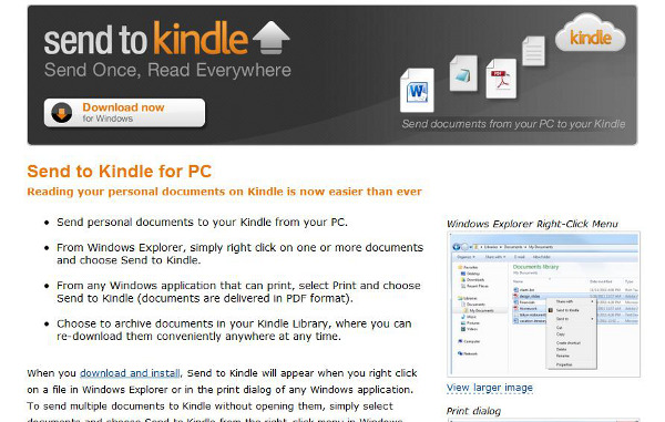 Amazon send to Kindle: envía cualquier documento de tu PC al Kindle